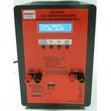 1-26V, 25Amp, Dual Output Power Supply &  ALL-IN-ONE Super Fast Charger (650W MAX.)