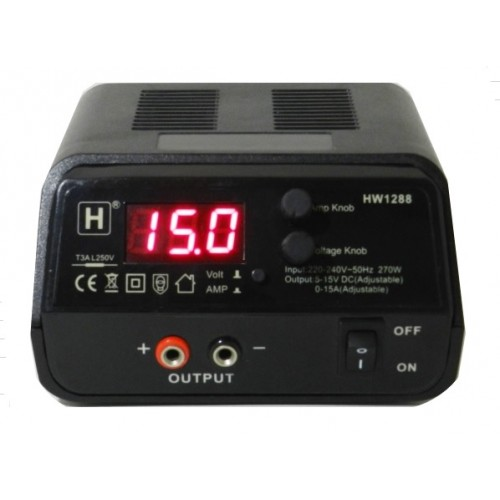 5-15V / 0-15A Adjustable Power Supply